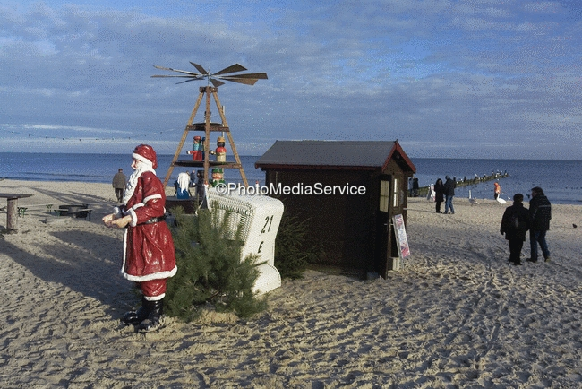 foto weihnachten am strand ostsee insel usedom. Black Bedroom Furniture Sets. Home Design Ideas